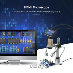 10x-300x Electronic LED Digital Microscope 3MP 1080p For PCB Board Repair D0Q0