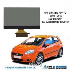 Fiat Punto LCD Display And Ribbon For Instrument Cluster 2003 2010. New
