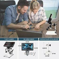 LCD Digital USB Microscope 7 in HD Screen 32 G TF Card, Circuit Board Repair