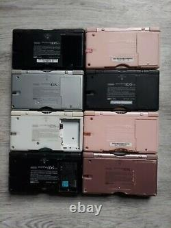 Lot of 8 NDSL, 3 Boards, for PARTS/REPAIR. Good for Gameboy MACRO modders, read
