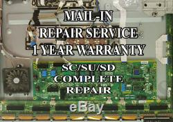 Mail-in Repair Service For Panasonic TC-P55GT31 SC/SD/SU Boards 1 YEAR WARRANTY