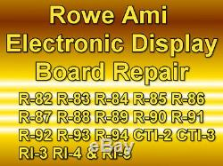 Rowe Ami Jukebox Electronic Display Circuit Board Repair All Models R-82 To R-94